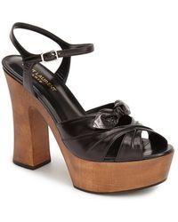 Saint Laurent 'Candy' Leather Platform Sandal - Lyst
