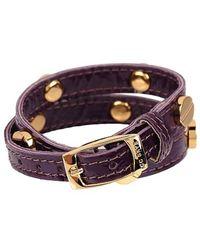 CC SKYE The Signature Screw Bracelet Double Wrap In Gold - Lyst
