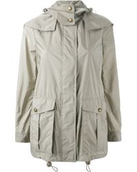 Burberry Brit Hooded Parka - Lyst