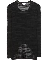 Helmut Lang Cotton-Blend Sweater - Lyst