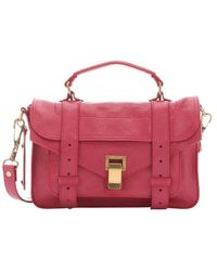 Proenza Schouler Raspberry Leather 'Ps 1 Tiny' Satchel Bag - Lyst