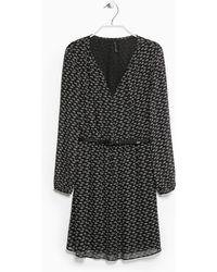 Mango Turtle Print Dress - Lyst