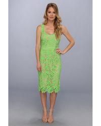 Nicole Miller Venice Lace Dress - Lyst