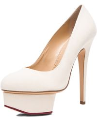 Charlotte Olympia Hot Dolly Suede Pumps - Lyst