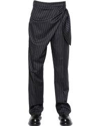 J.W. Anderson Knot Wool Twill Pants - Lyst
