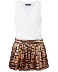 Christian Pellizzari Wrap Top Flared Dress - Lyst