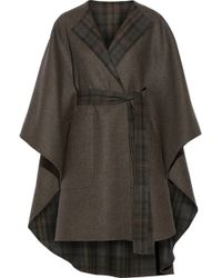 The Row Tonpell Reversible Virgin Wool and Angorablend Cape - Lyst