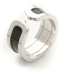 Cartier Double C Ring - Lyst