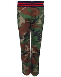 Harvey Faircloth - Camo Trouser with Ribbing - Lyst