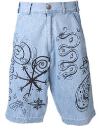 Jeremy Scott Denim Shorts - Lyst