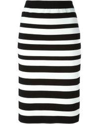Tsumori Chisato Striped Straight Skirt - Lyst