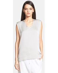 Helmut Lang 'Chroma' Drape Back Sleeveless Top - Lyst