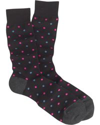 J.Crew Lightweight Small Dot Sock - Lyst
