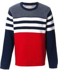 Libertine-Libertine - 'Boston' Mixed Pattern Sweater - Lyst