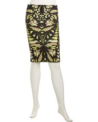 McQ by Alexander McQueen Floralprint Stretch Skirt - Lyst
