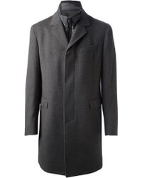 Herno Single Breasted Coat - Lyst