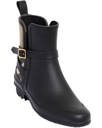 Burberry Riddleston House Check Rubber Boots - Lyst