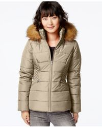 Krush - Faux-fur-hood Puffer Jacket - Lyst