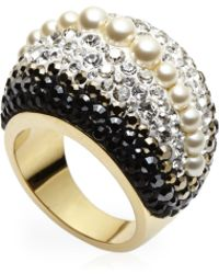 Swarovski - Gold-Tone Accented Ring Size 8 - Lyst