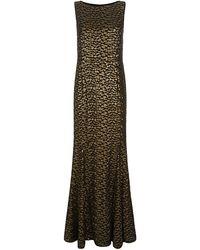 St. John Leopard Sequin Gown - Lyst