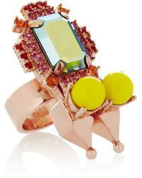 Mawi - Rose Goldplated Swarovski Crystal Ring - Lyst