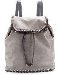 Stella McCartney Faux-suede Backpack - Lyst