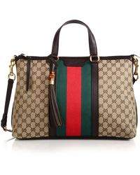 Gucci Rania Original Medium Gg Canvas Top-Handle Bag multicolor - Lyst