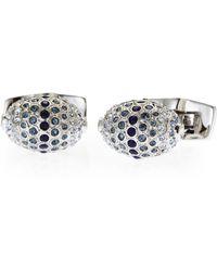 Duchamp | Silver-Tone Oval-Shaped Cuff Links | Lyst