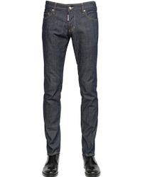 DSquared² 18Cm Slim Fit Dark Wash Denim Jeans - Lyst
