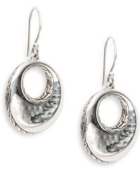 John Hardy Palu Sterling Silver Drop Earrings - Lyst