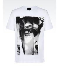 Emporio Armani Printed T-Shirt - Lyst