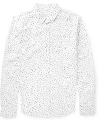 Band Of Outsiders Slimfit Printed Oxford Cotton Shirt - Lyst