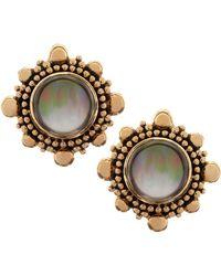 Stephen Dweck Rock Crystal & Mother-Of-Pearl Clip Earrings - Lyst