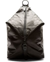 Yohji Yamamoto Black Leather Envelope Backpack - Lyst
