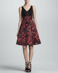 Jason Wu Combo Silk Satin Dress - Lyst