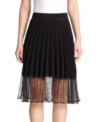 Rag & Bone Lyndale Lace-Hem Pleated Skirt - Lyst