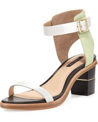 Rachel Zoe Colbie Colorblock City Sandal Mint - Lyst