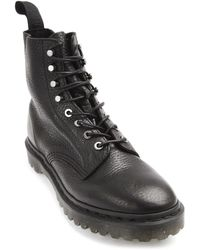 Dr. Martens Hadley Black Grained Leather Boots - Lyst