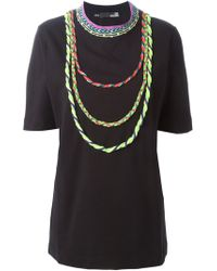 Love Moschino Rope Necklace T-Shirt - Lyst