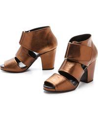 Rachel Comey Comrad Open Toe Sandals - Bronze - Lyst