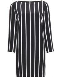 Emilio Pucci Striped Silk Dress - Lyst