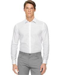 Calvin Klein Solid Texture Shirt white - Lyst