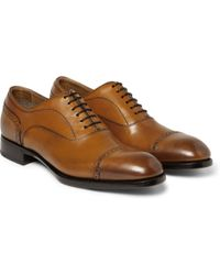 Brioni Leather Derby Brogues - Lyst