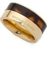Michael Kors - Color Block Ring - Gold/tortoise - Lyst