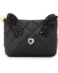 Betsey Johnson   Disco Bunny Quilted Cosmetic Bag   Lyst