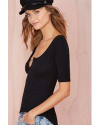 Nasty Gal Gimme The Scoop Knit Top - Lyst