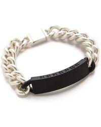 Maison Martin Margiela Silver Id Bracelet  - Lyst