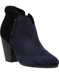 Rag & Bone | Margot Two-Toned Suede Boots | Lyst