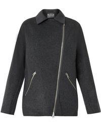 Acne Studios Envier Wool Cashmere-Blend Biker Jacket - Lyst