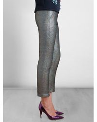MSGM Silver Hologram Trousers - Lyst